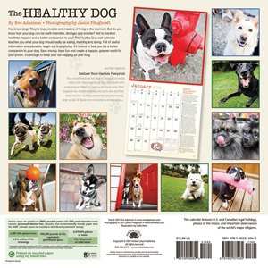 The Healthy Dog, 2012 Dog Calendar back