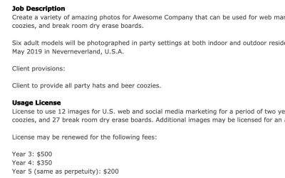 What is a Commercial Photography Image License?